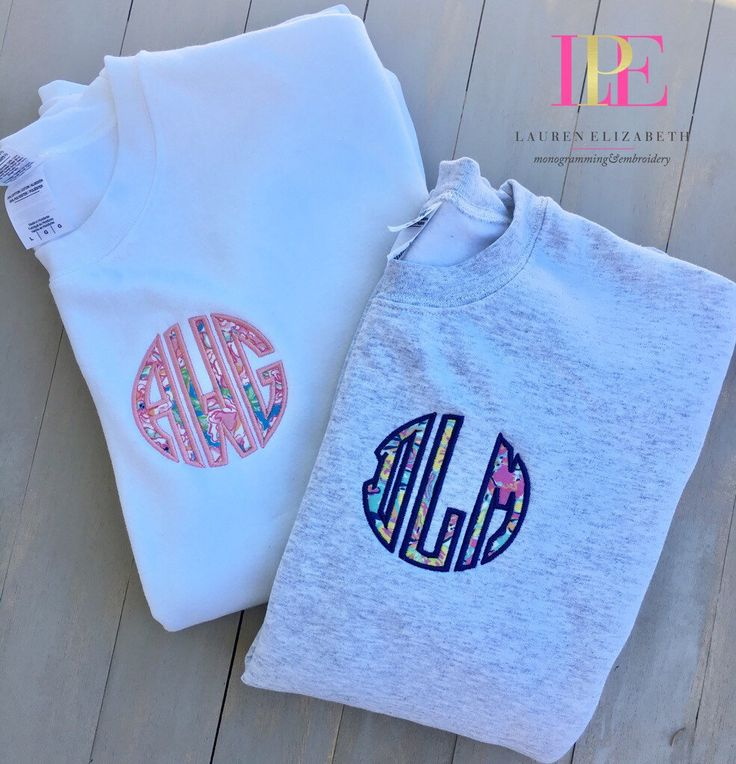 Lilly Pulitzer Inspired Monogrammed Crewneck Pullover Sweatshirt (Adult Small-3XL) by LPEdesigns on Etsy https://www.etsy.com/listing/247516617/lilly-pulitzer-inspired-monogrammed