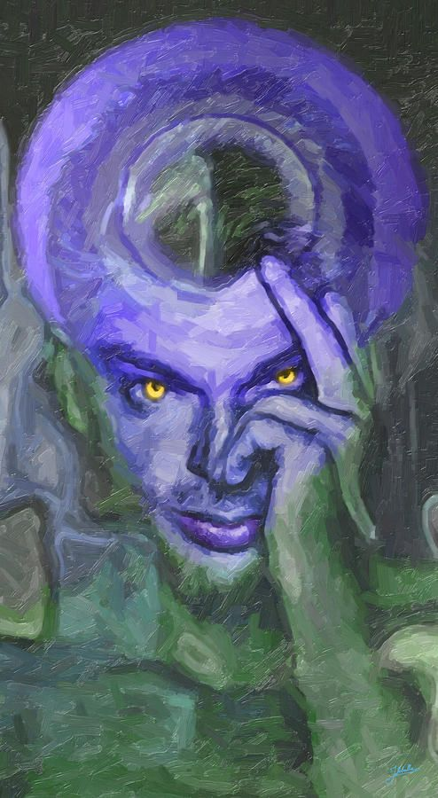 Saint Manipulator Minds. Painting by Joaquin Abella. The power of the mind and mass manipulation. Man who can make you believe anything. And if you do not, you will be pursued by their sectarian followers.