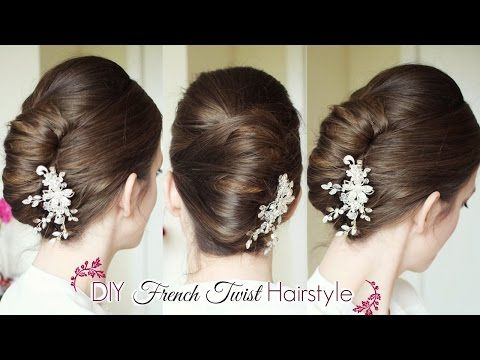 DIY French Twist Updo | Holiday Updo Hairstyles | Braidsandstyles12 - YouTube