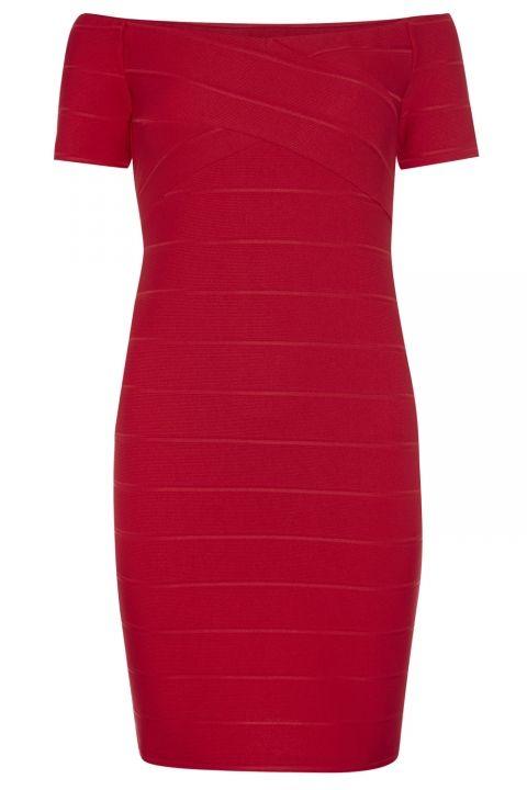 Primark Red Bardot Dress, £13