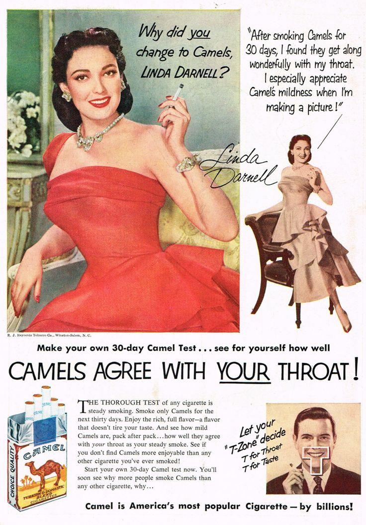 Linda Darnell for Camel Cigarettes, 1952