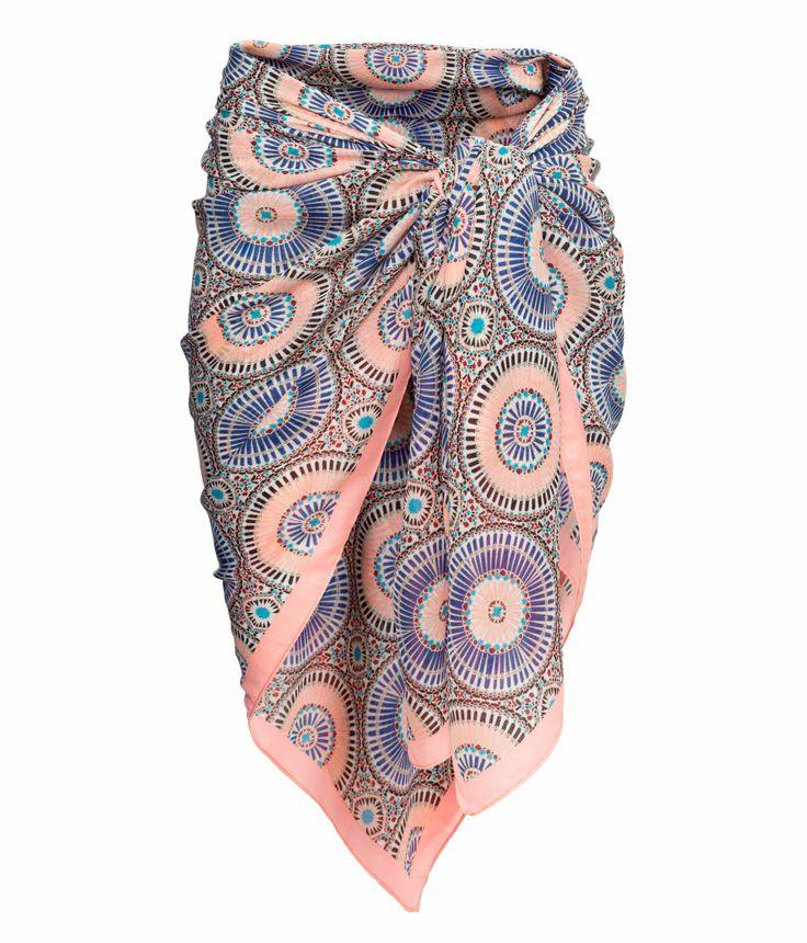Patterned sarong. #HMPastels
