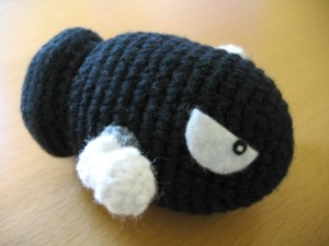 For those of us who love to crochet and Super Mario, here are tutorials that go over some of the characters!! Wanna make a Bullet Bill!!