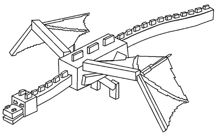 minecraft coloring pages dragon - Prinzewilson.com ...