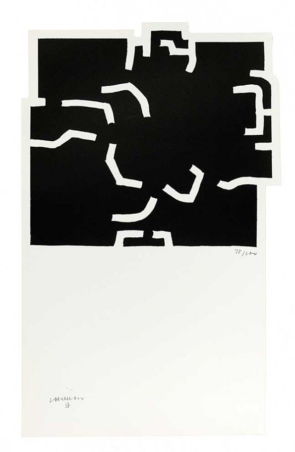 Eduardo Chillida (1924-2002), Zurich I, 1978. Lithograph on Velin paper. Sheet size: 73cm H x 44.5cm W. Edition of 100 copies.