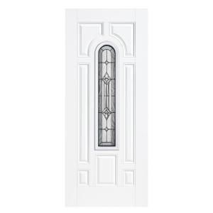 Masonite 36 in. x 80 in. Providence Center Arch Primed Steel Prehung Front Door with No Brickmold 14629 at The Home Depot - Mobile