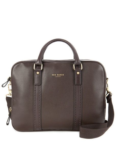 Leather document bag - Chocolate | Bags | Ted Baker