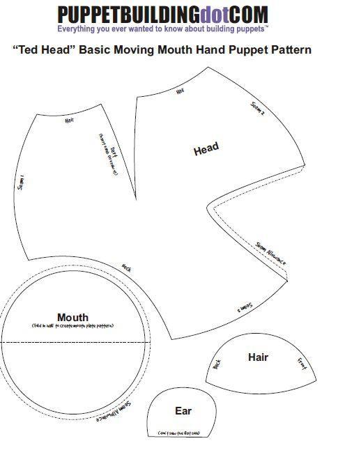 Plantilla cabecita de Títere en hule espuma y tela ~ Idea para apoyar las clases bíblicas o clubs bíblicos para niños (✿◠‿◠)