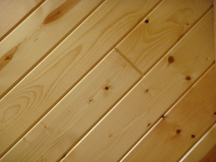 knotty pine  Dome finishes  Plank ceiling Lake house