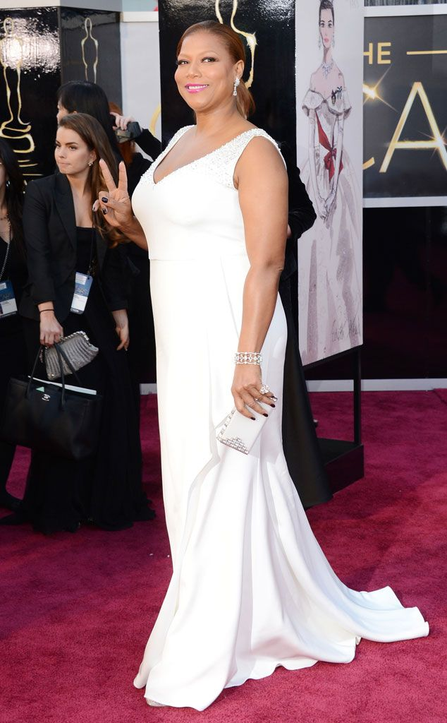 Queen Latifah from 2015 Emmy Nominees' Best Looks - in Badgley Mischka (not sure what year this is)