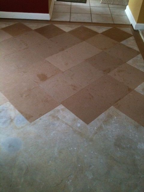brown bag floor, diy renovations projects, flooring, repurposing upcycling