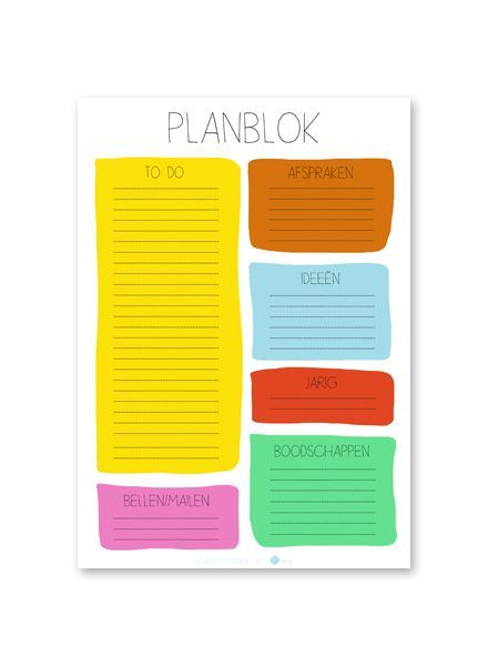 Studio Stationery Planblok