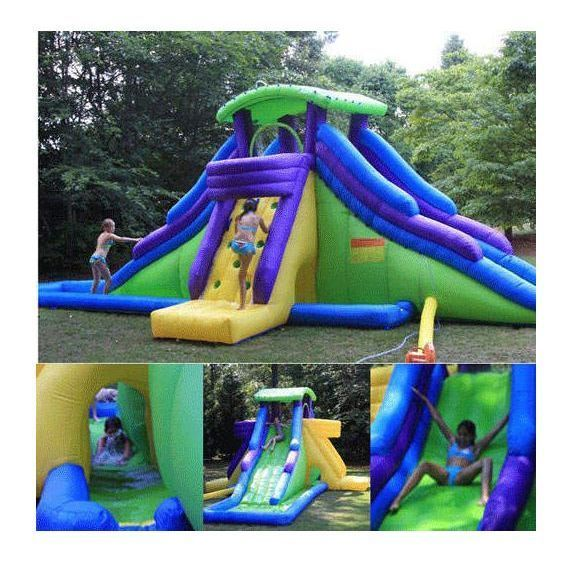 backyard kids commercial grade inflatable water slide wet dry bounce house pool kidwise - Blow Up Water Slides