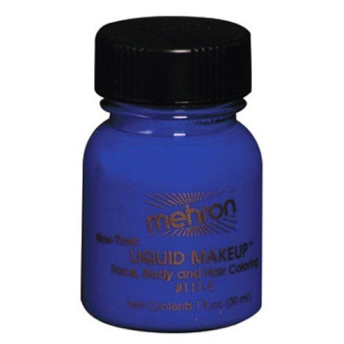 Mehron Liquid Face Paints - Blue BL (1 oz) by Mehron. $4.71. Mehron Liquid Face paint is water based and can be applied with a brush, sponge or an airbrush.. Each 1 ounce bottle of Mehron Blue Liquid Face Paint will work for 20-70 applications.. Mehron face paints are made with FDA approve ingredients and are safe and gentle. Water based: easy to apply, easy to remove with just soap and water.. Perfect for full body painting or for getting things moving quickly with ...