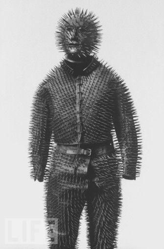 Russian bear hunting armor from the 19th century. I think this would keep the zombies off.