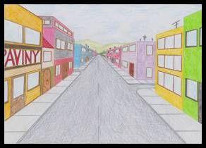 Ulice – perspektiva s jedním úběžníkem