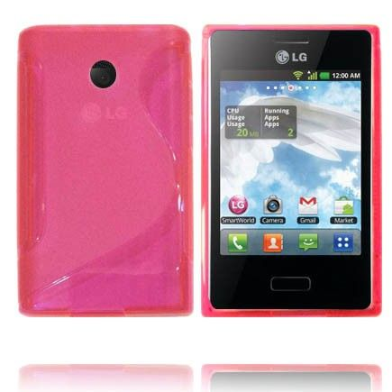 Transparent S-Line (Pink) LG Optimus L3 Cover