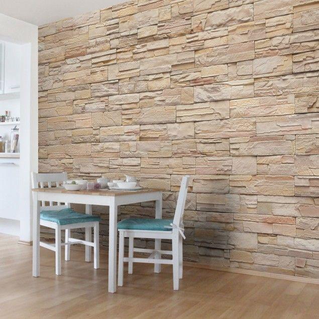 Die besten 25+ Fototapete steinoptik Ideen auf Pinterest - backstein tapete wohnzimmer