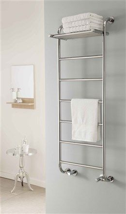 the radiator company phoenix chrome heated towel rail bathroom towel decorloft - Bathroom Accessories Towel Rail