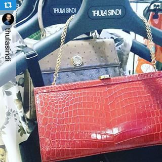 So exciting .... Ostrich & Croc @vanashree_official bags the perfect accompaniment for #ThulaSindi #CPM #Moscow #VanaShree #SouthAfricanLuxury #exoticelegance