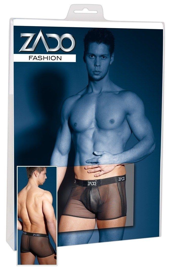 Was will Mann mehr? Präsentieren Sie Ihre Männlichkeit in dieser schwarzen Pants aus einer Materialkombination von perforiertem Lammnappa-Leder an seitlichen Einsätzen und am Beutel und Powernet. Der breite Webgummibund mit weissem...