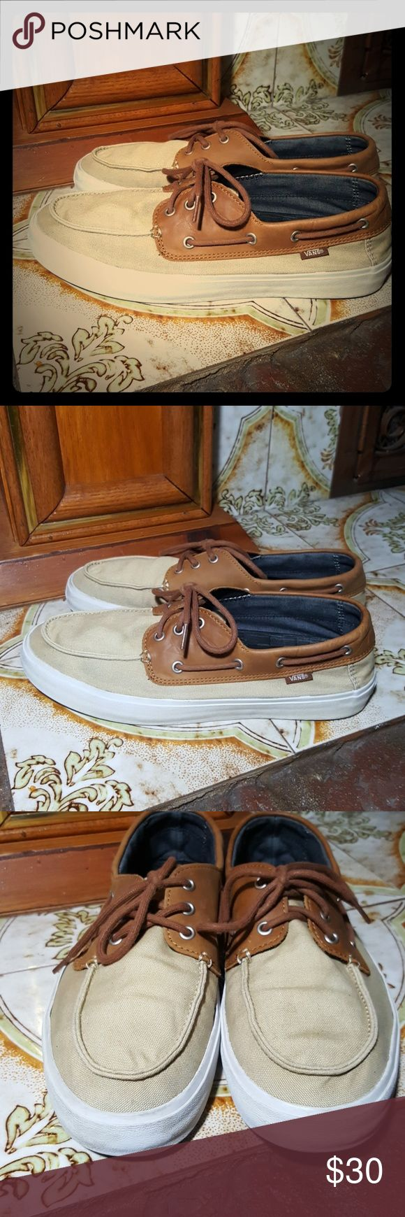 Vans Canvas Boat Shoes/Sneakers Mens US 11.5 These are in good pre-owned condition no holes or tears on uppers soles are in great condition. Please see pictures...Thanks for looking! Vans Shoes Boat Shoes