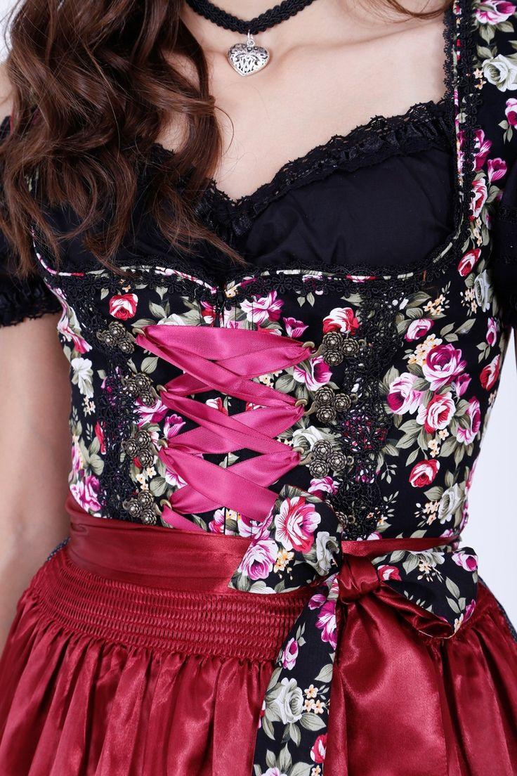 Dirndl Black Roses (50cm) - Dirndl  - Kleidung - Damen  | Krüger Dirndl