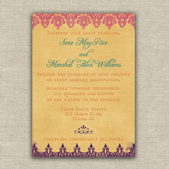 Multi-colored Wedding Invitation