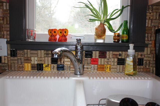wine cork backsplash wino pinterest wine corks and