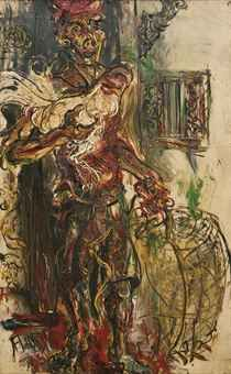 Ayam Jago (Man with a Fighting Rooster) Affandi