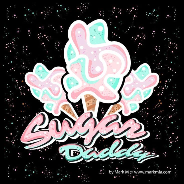 Logo concept by Mark M #cottoncandy #candy #candybar #logodesinger #concept #sweet #color #creative #design #sugardaddy #sugar