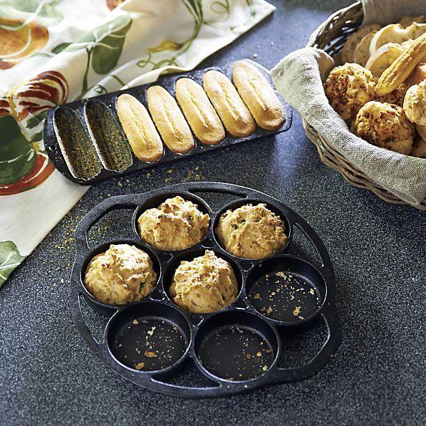 Lodge® Cast Iron Drop Biscuit Pan in Specialty Cookware | Crate&Barrel