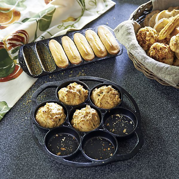 Lodge® Cast Iron Drop Biscuit Pan in Specialty Cookware | Crate&Barrel