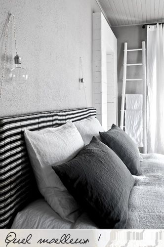 : Grey Bedrooms, La Feline, Bedrooms Lights, Bedrooms Design, Bedroombedroom Decor, Diy Headboards, Bedrooms Interiors, Bedrooms Decor, Beautiful Bedrooms