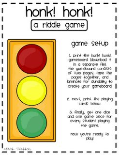 The First Grade Sweet Life: Reading Riddle Game