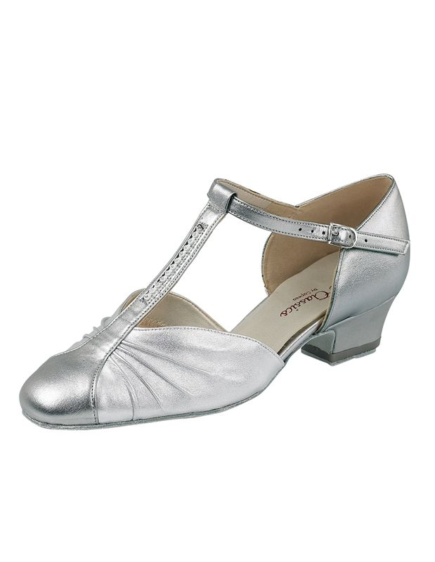 1fdea5c758e An EE wide fit dance shoe with a Cuban heel and Diamante detailed T-Bar