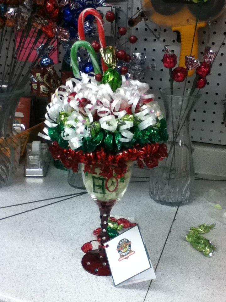Christmas themed candy bouquet sundae sweet ideas