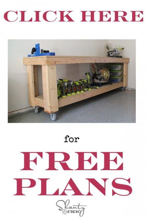 Workbench Plans Shanty 2 Chic - Small Workbench Plans
