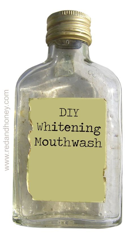 DIY Whitening Mouth Wash  Ingredients:  1.5 tsp Food grade 35% hydrogen peroxide 2 cups Filtered water 3-5 drops Essential oil of choice (cinnamon and clove, peppermint or spearmint are all excellent) 3 drops Tea tree essential oil 5 drops Lemon essential oil Combine all ingredients in a glass jar and shake gently before each use. Mason jars are perfect for this! Store in a cool place.