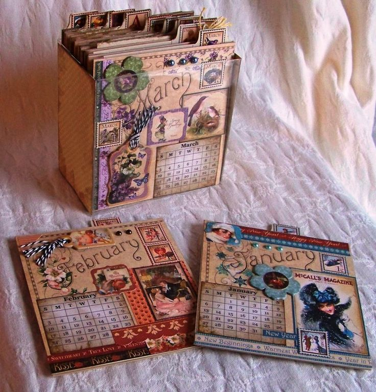 Free class video Donna-Marie's new class demonstrates how to craft a one-of-a-kind boxed calendar set using the Graphic 45 Place in Time paper collection.