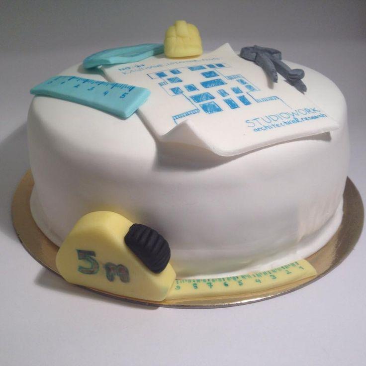 Architect cake, bd cake, fondant cake...