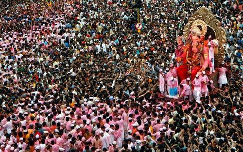 The great Ganesh Chaturthi parade.