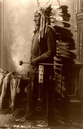 Chief Sitting Bull (Tatanka Lyotake), Sioux (Lakota)~1831-1890. At Burns & Co., we create rare historical art produced from prints, photographs, manuscripts, ancient texts, & reliefs. Visit: https://www.pinterest.com/BurnsCoGallery/ or call (888) 266-9385.