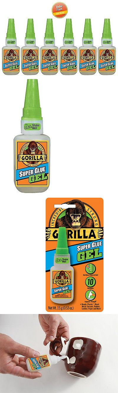 Glues and Pastes 161586: Gorilla Glue 7600101, 15G Super Glue Gel, No Run Control Gel Formula - 6 Pack -> BUY IT NOW ONLY: $35 on eBay!