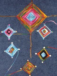 Ancient Mayan Indian Unit: God's Eye — Yarn Craft   The Homeschool Den