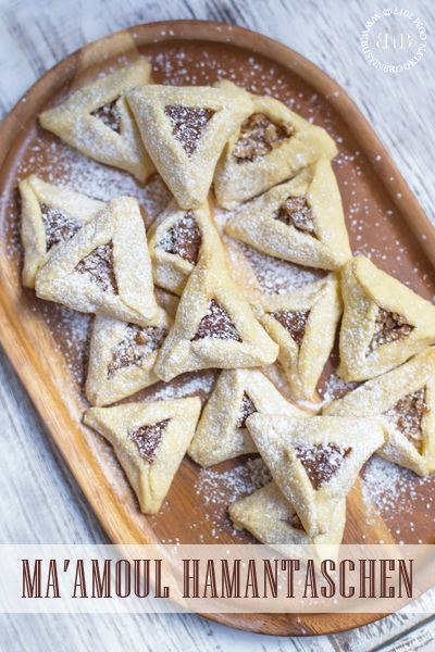 Rosewater-scented Ma'amoul hamantaschen with date or walnut fillings