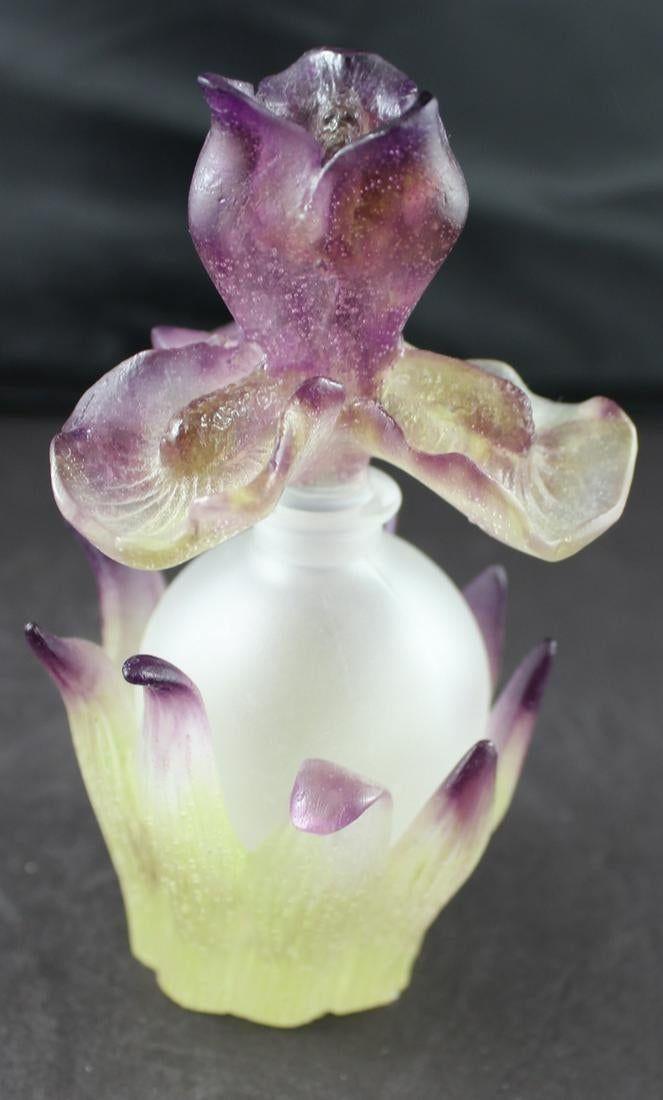 Daum Crystal Iris Perfume Nov 04 2019 Charles Auction Estate Services Inc In Fl Perfume Bottle Art Beautiful Perfume Bottle Perfume Bottles