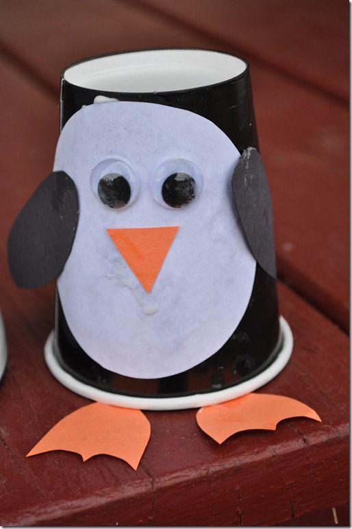 Paper Cup Penguins