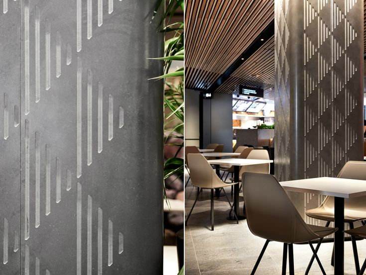 Custom column detail @ Gateway Dining, Sydney, by MTRDC. Photography by Ryan Linnegar Photography.