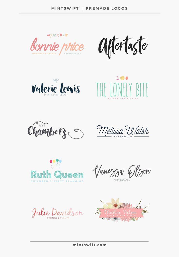 MintSwift Premade Logos | MintSwift Shop | Premade branding | Branding on budget | Logo design templates | Affordable logo design | Branding kit | Feminine logo design | Branding | Premade Logo | Logo Design | Watercolor Logo | Photography Logo | Small Business Logo | Business Logo | Blogger Logo | Branding